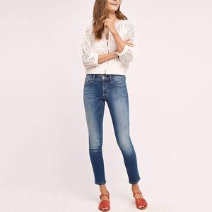Anthropologie Pilcro STET skinny cropped jeans